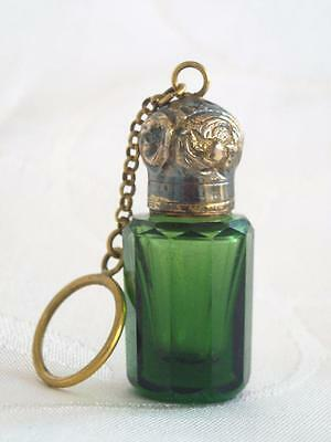 French Antique Miniature Chatelaine Perfume Scent Bottle Circa 1880