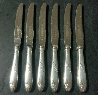 Ancora Sheffield England Epns A1 Silver Plated Entree Knives 6 Pieces