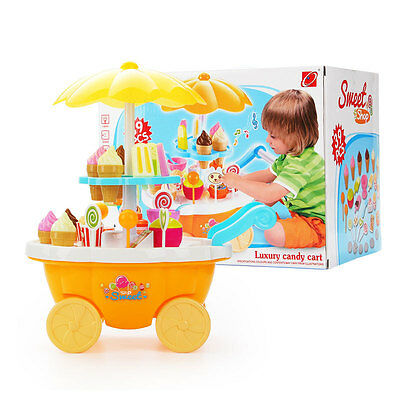 Brand NEW Child Kid Toy Gift 39Pcs Sweet Candy&Ice Cream Shop Pretend Play Set