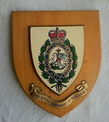 Royal Regiment of Fusiliers wooden Army wall plaque shield