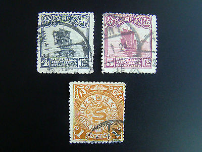 3 Sellos Antiguos China / Stamps / Briefmarken / Timbres