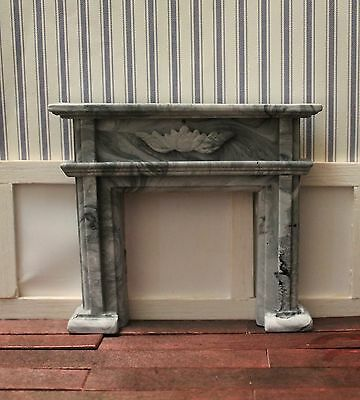 DOLLHOUSE MINIATURE Federation Fireplace, Stone/ Marble Finish