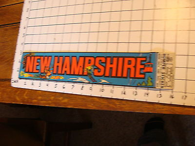 Vintage UNUSED New Hampshire bumper sticker EZ-STRIP impko