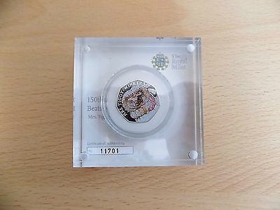 Mrs Tiggy Winkle Coloured Silver Proof 50p Pence Beatrix Potter Boxed New