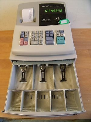Easy To Use Sharp Cash Register Shop Till Excellent Condition & Spare Rolls
