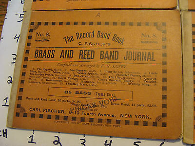 BAND BOOKS: 1905 Carl Fisher BRASS & REED BAND BOOK #8 19 songs