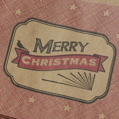 East of India Little Small Strung Kraft Bags Merry Christmas x40 Festive Craft