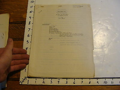 Vintage Puppet Marionette Play Script: THE LOST BOY by NORA WOOD