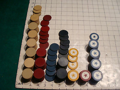 BIG LOT of CLAY Poker Chips, some with STARS