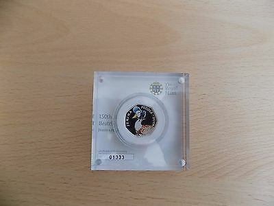 Jemima Puddle Duck Silver Proof Coloured 50 Pence Beatrix Potter Coin 01333