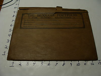 Vintage Travel Paper: the IROQUOIS PORTFOLIO for school exercises Envelope only