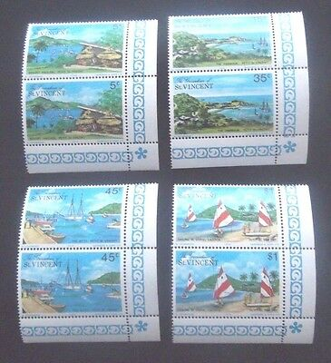 Petit St Vincent-1975-Set of 4 Joined Pairs-MNH