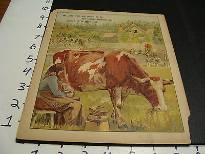 early German animal book, picture page----COW