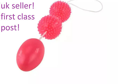 High Quality Soft Red Silicon Kegel Vaginal Muscle Toning Ben Wa Balls,uk Seller