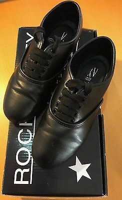 Roch Valley Black Leather Tap Shoes Size 13
