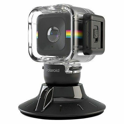 Polaroid Waterproof Case and Suction Mount for Polaroid CUBE C3 Action Cameras