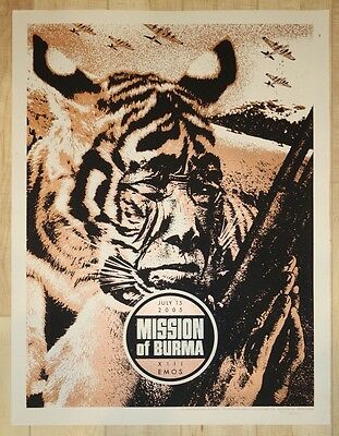 2005 Mission of Burma - Austin Silkscreen Concert Poster s/n by Rob Jones