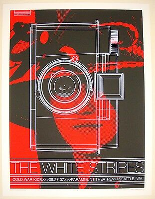 2007 The White Stripes - Seattle II Silkscreen Concert Poster by Rob Jones S/N