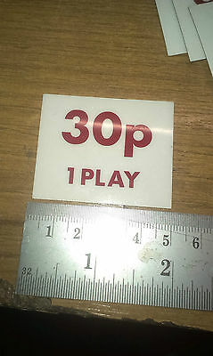 30P PRICE OF PLAY SELF ADHESIVE PLASTIC LABELS 50MM x 40MM