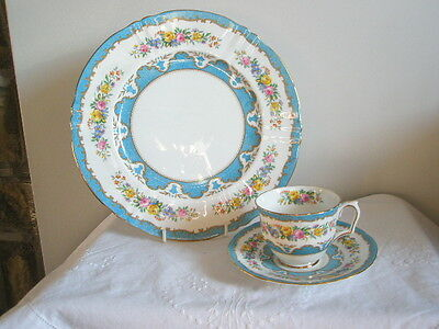 "Crown Staffordshire 'Tunis'   10.5"" Dinner Plate & Cup & Saucer"