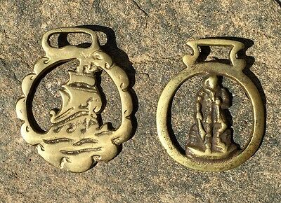 Vintage Solid Brass Tack Bridle Decorations (qty. 2)