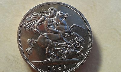 1951 George VI  Festival of Britain Crown - Low mintage RARE