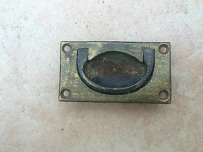 Small Antique Solid Brass Military Chest Handle
