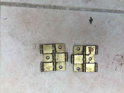 Good Pair of Solid Brass Vintage Screen Hinges
