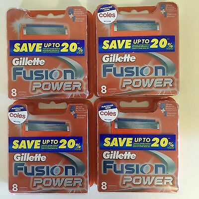 Gillette Fusion Power  32 Shaving Blades (4x8)