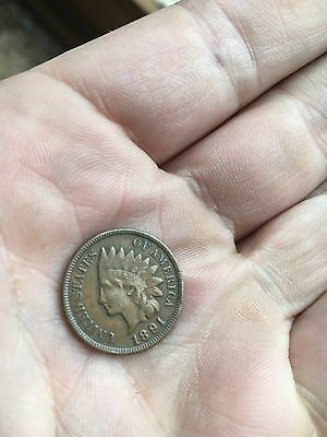 1891 INDIAN Head Cent United States of America Antique USA Coin Liberty