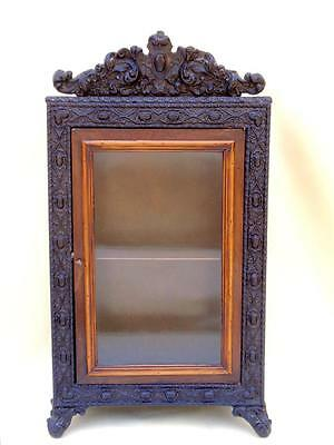 Rare French Antique Curio Cabinet Alphonse Giroux Paris Rosewood Ebony c.1880