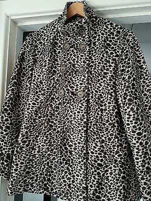 Girl's Stunning Next Leopard Print Coat Age 15-16