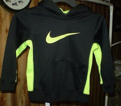 Nike Boy's  Therma Fit Hoodie -Size 5 -Bright Yellow & Black