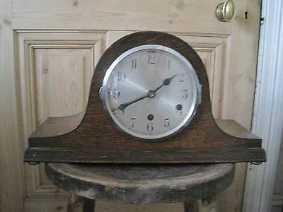 Handsome Over Mantle Clock Antique 1930s Period Rare Victorian Edwardian Vintage