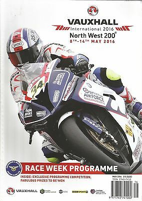 North West 200 8-14 May 2016 116 page Official Programme NOT IOM TT Superbikes