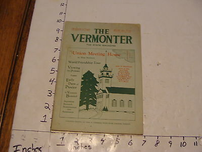 Vintage Travel Paper--THE VERMONTER--FEBRUARY 1934