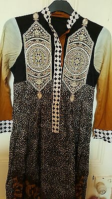 Sale !Designer Indian/ pakistani embroided gul ahmed  kurta/kameeze