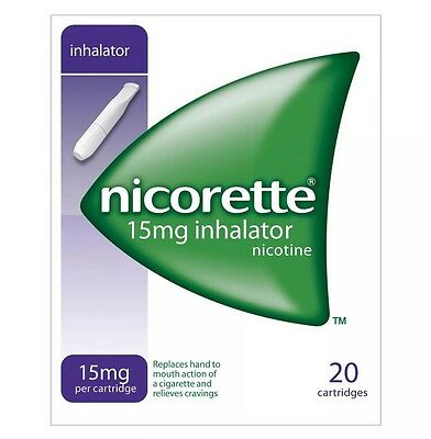 6 Packs of Nicorette 15mg Inhalator 20 Cartridges (6 Packs x 20) Expiry==04/2022