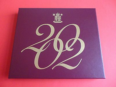 2002 Royal Mint Proof Coin Set Complete With Certificate And Box