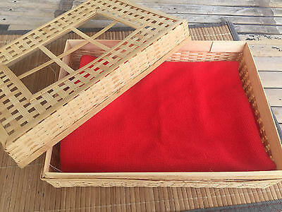 Tissue Square box bamboo basket container handmade