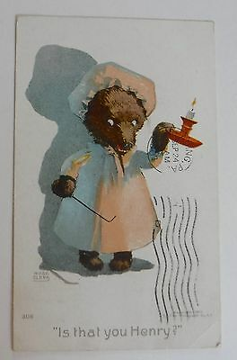 "Rose Clark Bear ""Is that you Henry? ""  Postcard"