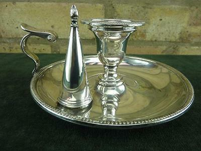 Nice Antique Henry Wilkinson chamberstick candle stick holder silver plated