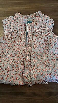M & S  girls  gilet coat 2-3