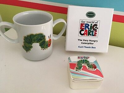The Very Hungry Caterpillar Mug & Curl Tooth Box Silver Plated Royal Worcester