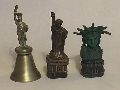Statue of Liberty Thimbles & Bell - lot of 3