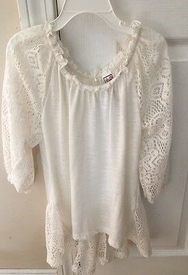 Beautees Girls Dressy White Top Size Medium Youth