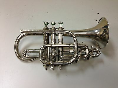 Antique Grinnell Brothers Detroit Silver Cornet