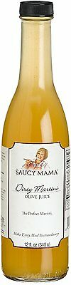 Saucy Mama Dirty Martini Olive Juice 12-Ounce Bottle