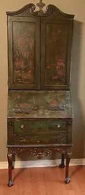 Vintage Chinese Style Secretary Desk and Bookcase