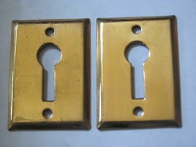 ONE LARGE Antique Brass Key Hole Cover Door Hardware NOS B